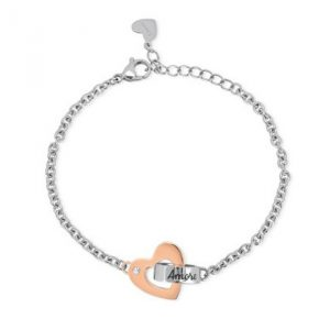 BRACCIALE 2 JEWELS COLLEZIONE LINK WITH LOVE