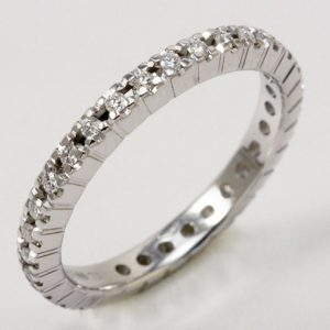 Fedina Eternity con diamanti taglio brillante ct. 0.30