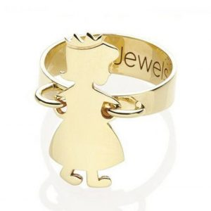 ANELLO COMPONIBILE MY JEWELS CON UN ELEMENTO IN ORO 9 KT