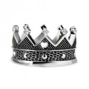 ANELLO BE MY QUEEN DI MARIA CRISTINA STERLING IN ARGENTO